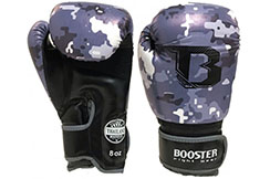 Kids Boxing Gloves - Grey Marble Camo, Booster