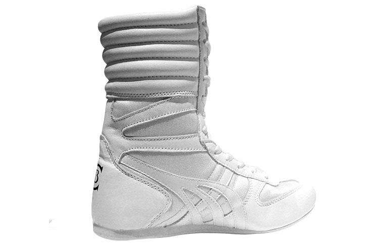 English Boxing Shoes, Uppers - White, Champboxing