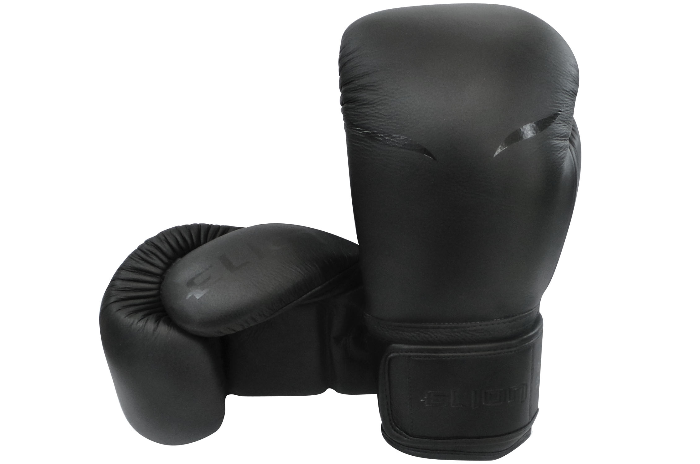 gants de boxe entrainement cuir mat black elion. Black Bedroom Furniture Sets. Home Design Ideas