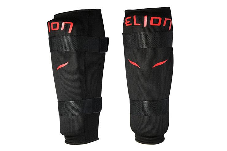 Protège-Tibias Coton - Velcro Noir, Elion