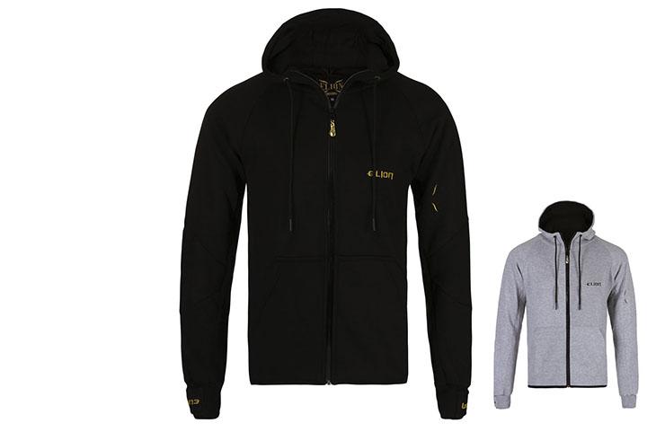 Zipped Sweatshirt with hood - Shadow, Elion