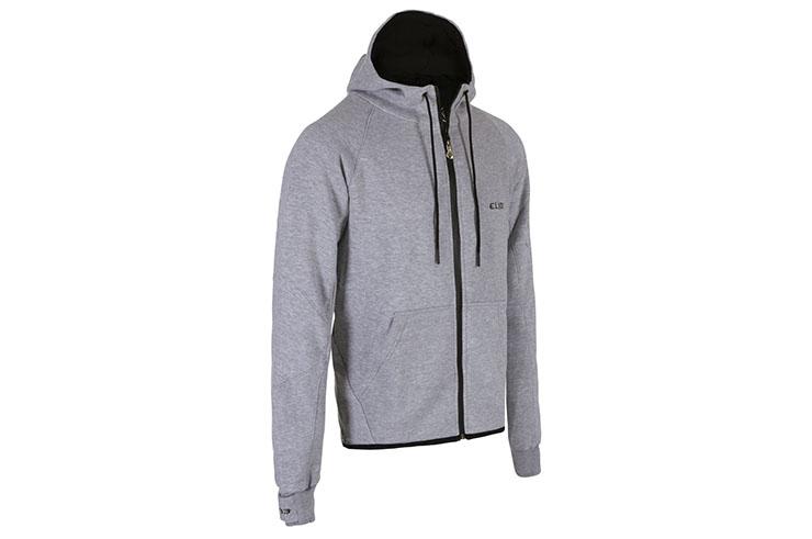 Sweatshirt à Capuche, Zippé - Shadow, Elion