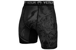 Pantalones Cortos de Compresión, Negro/Negro - Devil, Venum