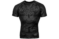 Rashguard Short Sleeves, Black/Black - Devil, Venum
