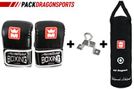 Punching bag + bag gloves, Montana