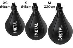 Pera de velocidad cuero, Heracles - FR8815, Metal Boxe