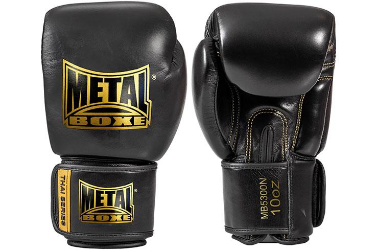 Leather boxing gloves, Thaï Series - MB5300N, Metal Boxe