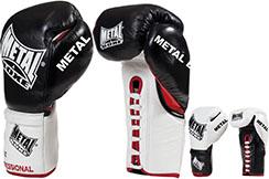 Guantes de boxeo pro con cordones, Sirius - MB6300, Metal Boxe