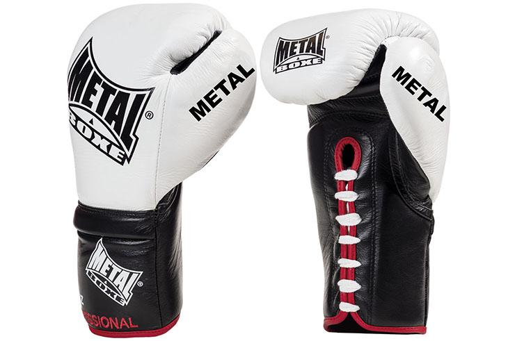 Gants de boxe Pro à lacets, Sirius - MB6300, Metal Boxe