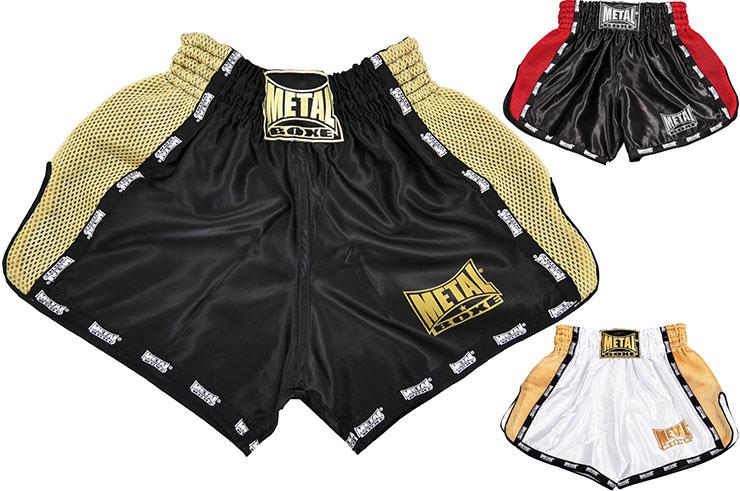 Pantalones cortos Kick & Thaï - TC70C, Metal Boxe