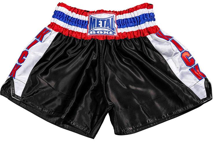 """Pantalones corto Kick-boxing """"EXTREM"""" Kick side - TC70G, Metal Boxe"""