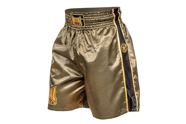 Pantalones cortos de boxeo vintage, Military - TC75M, Metal Boxe