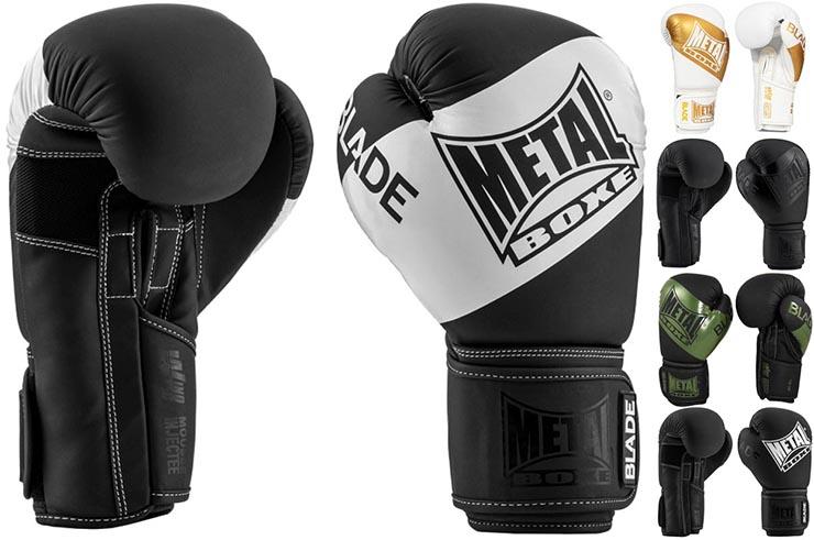Gants de boxe, Blade Black is Black - MBGAN204N, Metal Boxe