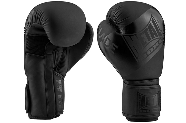 Guantes de boxeo, Blade Black is Black - MBGAN204N, Metal Boxe