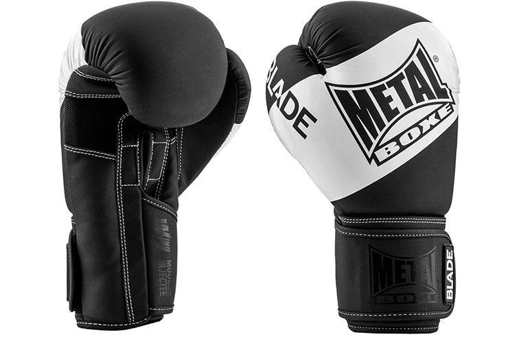 Gants de boxe, Blade Black & White - MBGAN205N, Metal Boxe