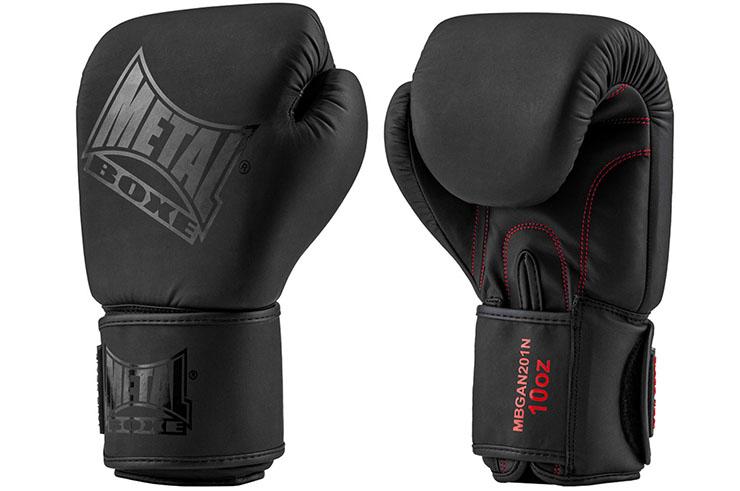 Gants de boxe, Black Thaï - MBGAN201N, Metal Boxe