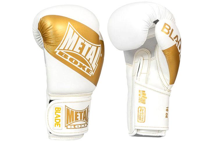 Gants de boxe, Blade Gold & White - MBGAN208W, Metal Boxe