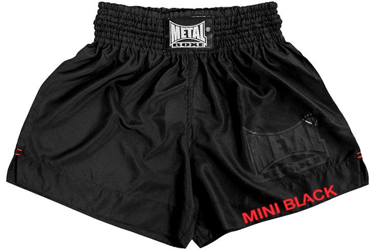 Thaï Shorts (2-5yo), Mini Black - MBTEX105, Metal Boxe
