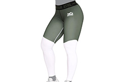 Legging, Mujer - Eclipse, Blanco y Verde, Phantom Athletics