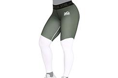 Leggings, Women - Eclipse, White & Green, Phantom Athletics