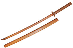 Bokken red oak, with protective sleeve