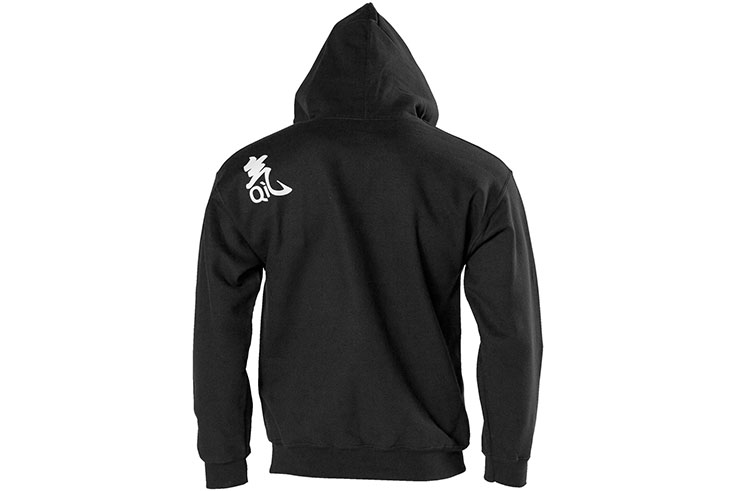 Sweatshirt, hooded - Black, Qi