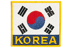 Flag Badge - Korea, Kwon