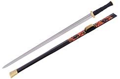 Épée Chu, Magnificent - Acier Damas, Rigide Aiguisé