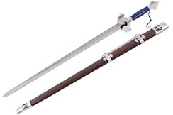 Espada Ming, Gale Wind - Acero de Damasco, Forja LK Chen