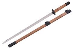 Tang Straight BroadSword, Heng Dao (Warrior grade) - Semi-flexible, Sharpened