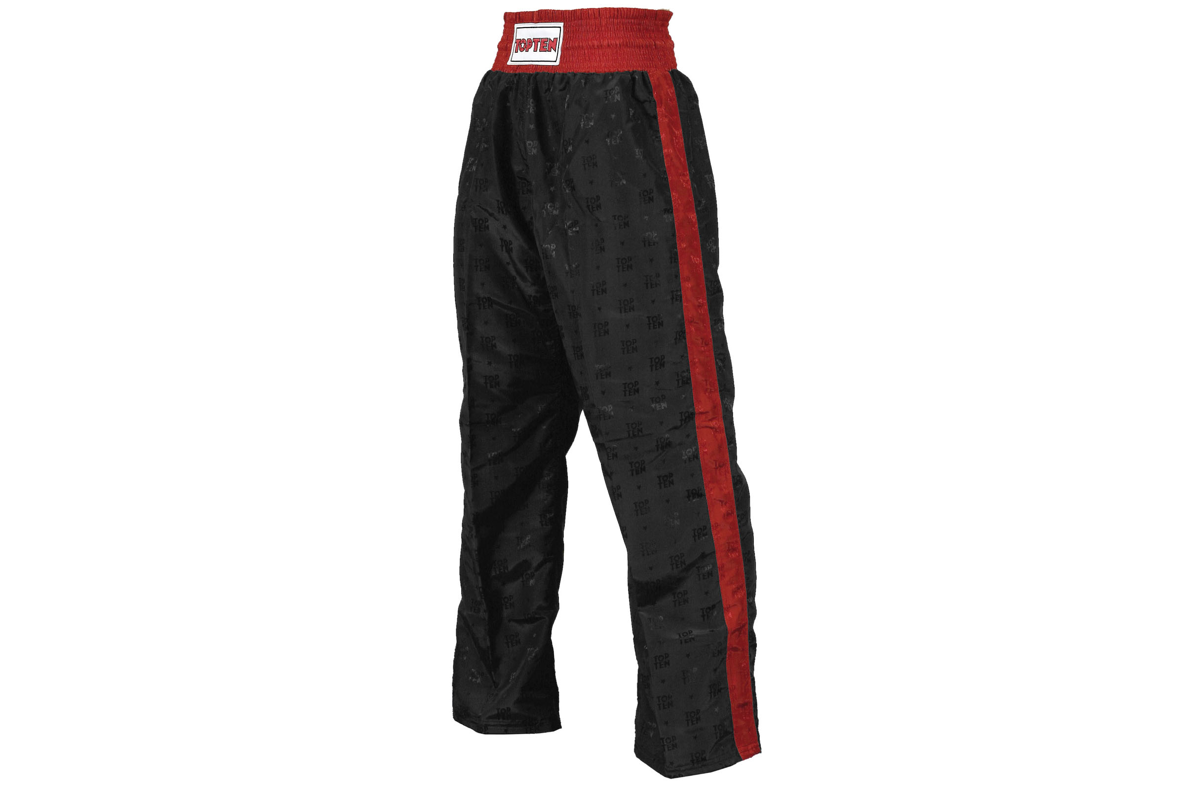 Full Contact Kick Boxing Satin Trousers Black//White Pants Bottoms Training