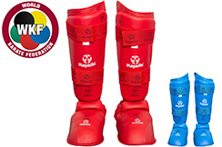 Step & Shinguards WKF, Removable, Hayashi
