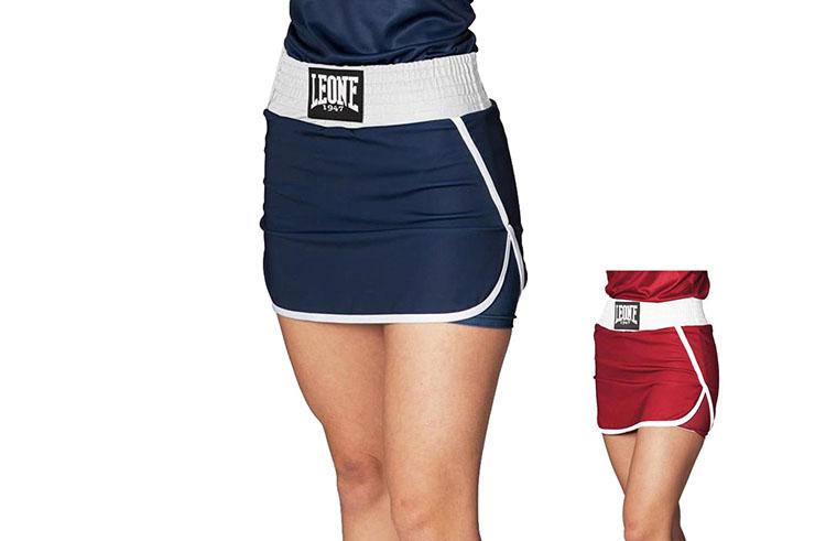 Short de Boxe Compétition Femme, Match - AB284, Leone