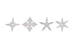 Estrellas Ninja Shuriken Miniatura - Set de 4