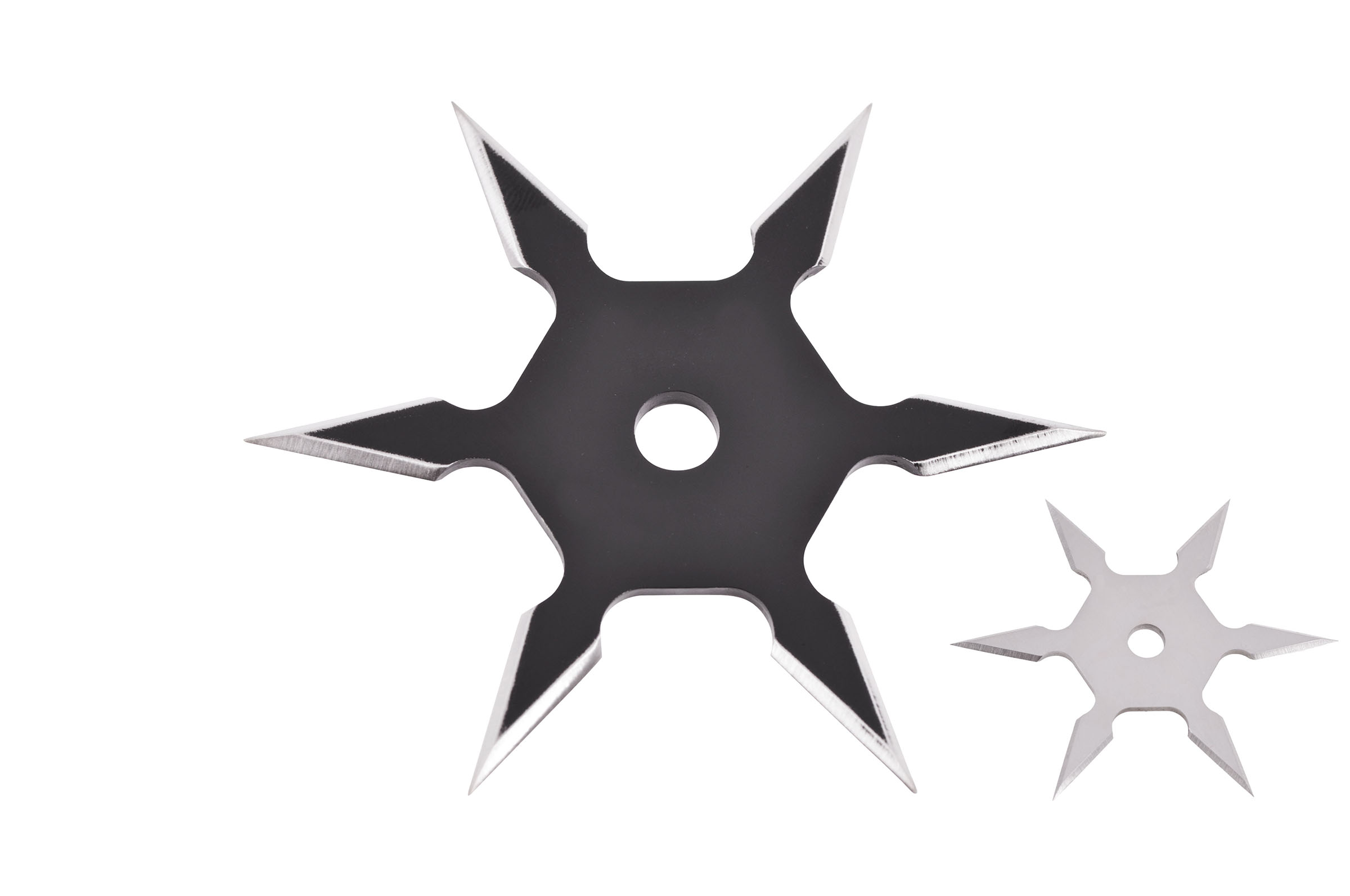 Wood and Silver Ring with 3 Blade Ninja Star Design