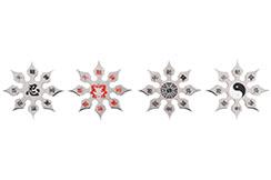 Étoiles Ninja Shuriken, Design Chinois - Lot de 4