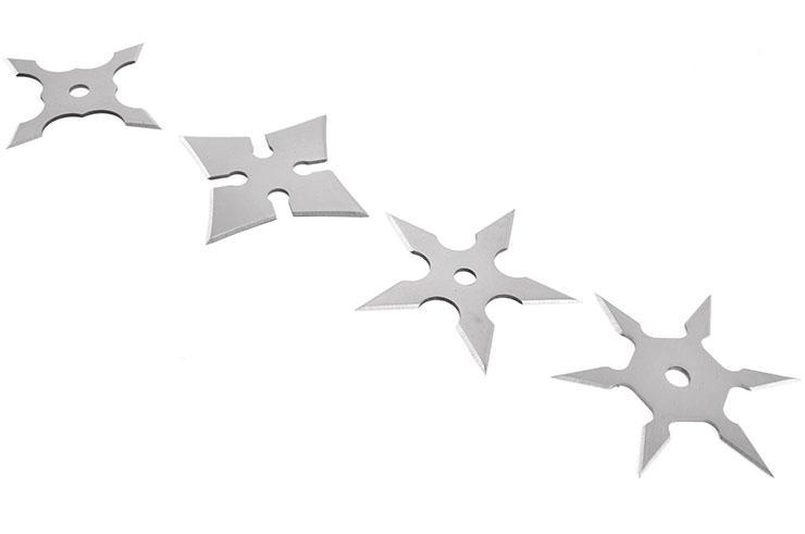 Ninja Shuriken Throwing Stars - 4pc Lot