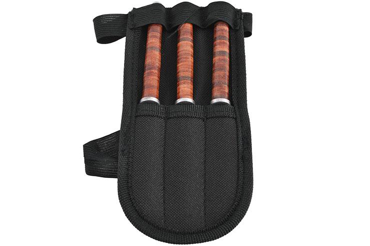 Cuchillos de lanzamiento, Cuero apilado - Set de 3 (16 cm)
