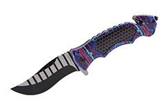 Cuchillo táctico, cortador de correas y rompedor de ventanas