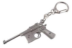 Llavero, pistola de acero - Mauser C96
