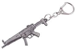Llavero, pistola de acero - HK MP5