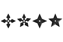 Shuriken, Polypropylène - Lot de 4
