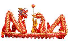 Dragon Rouge & Or, Haut de Gamme, 9 personnes, corps plus long et épais