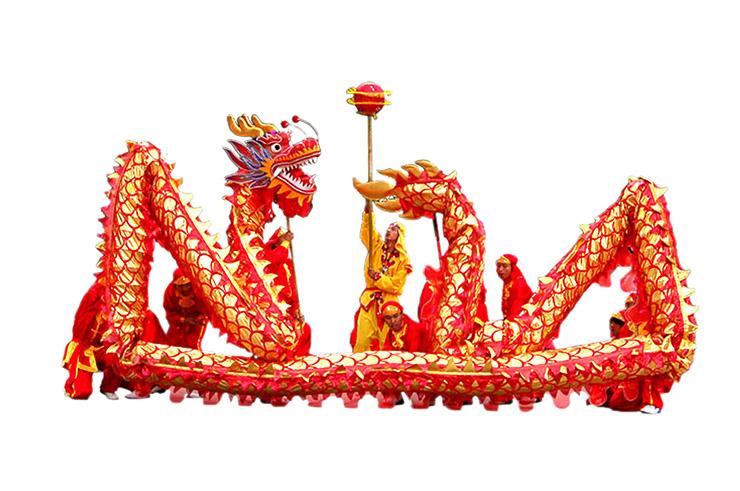 Traje Danza del Dragón «Jin Hong», Gama Alta - 10 personas