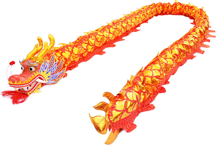 Dragon Costume, Red & Gold, Upper Range, 9 persons, enhanced body