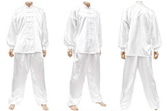 Uniform Taijil, Imitation Silk, White
