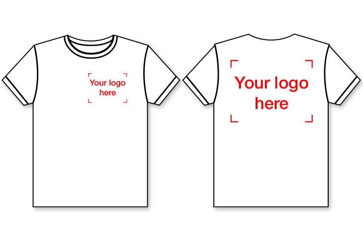 Lot de 100 T-shirts Manches Courtes, Sérigraphiés