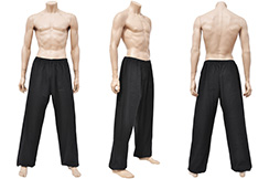 Wushu & Taiji Pants, Thick Cotton, Black