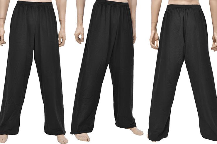 Pantalon Wushu & Taiji, Coton + Elasthanne