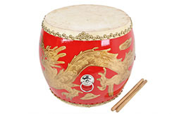 Small Drum, Red And Dragon